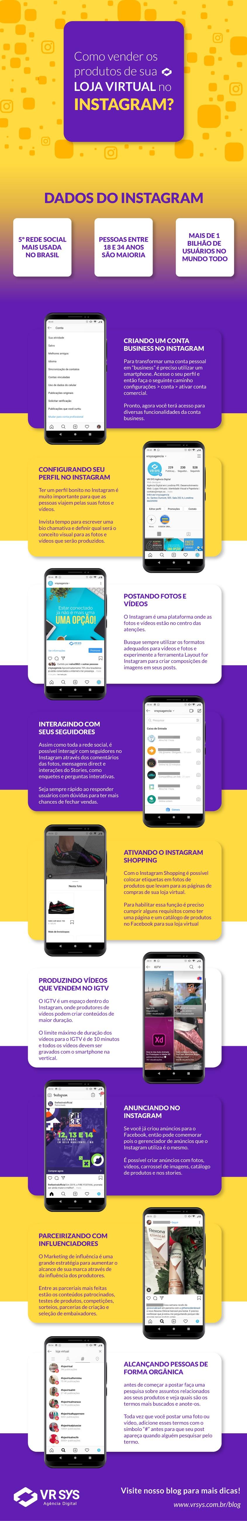 Como vender os produtos de sua loja virtual no Instagram?